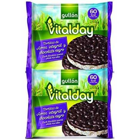 Tortitas De Arroz Integral Y Chocolate Negro Vitalday Gullon 100g