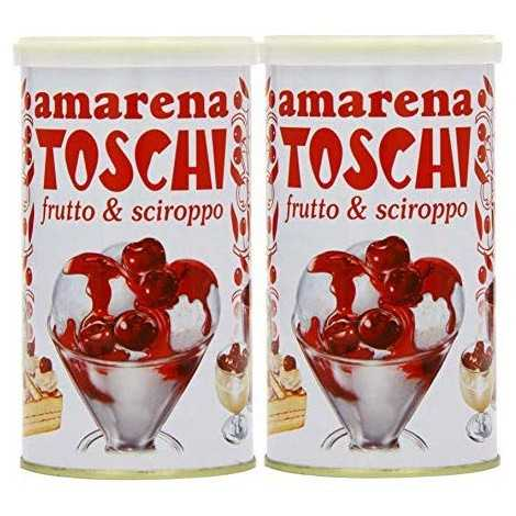 Toschi Amarena Cherries Tin 400 g (Pack of 2)