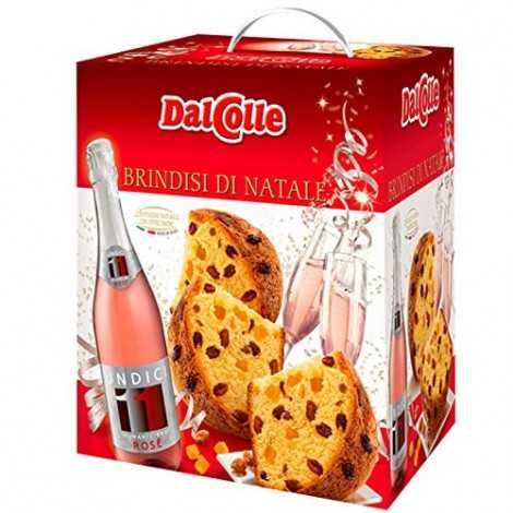 LE STRENNE DAL COLLE BRINDISI DI NATALE PAN NATALE + SPUMANTE ROSE' PANETTONE