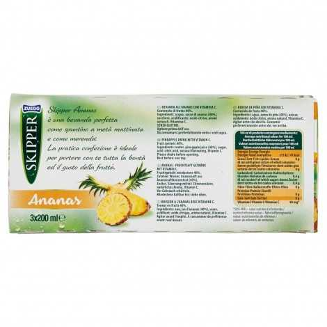 Skipper - Bevanda all'Ananas, 3 x 200 ml - 600 ml