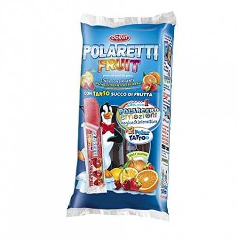 Polaretti Fruit Ice Pops Cool Pops con Real Fruit 10 x 40 ml Senza coloranti Artificiali. Senza conservanti Senza glutine