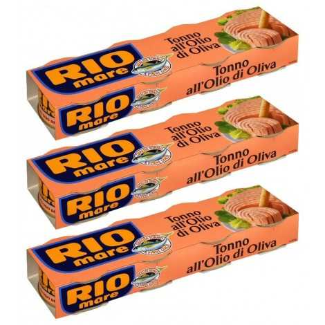 Rio Mare: Set of 12 Cans of Tuna Fish in Olive Oil, Yellowfin Tuna Quality Pack of 12, 80g (2.82oz) 960g