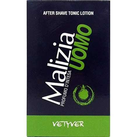 12 x MALIZIA Uomo After Shave Tonic Lotion Vetyver 100 Ml