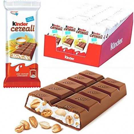 72 x KINDER CEREALI BARRETTA CIOCCOLATO LATTE 5 CEREALI DA 23.5gr BOX ESPOSITORE