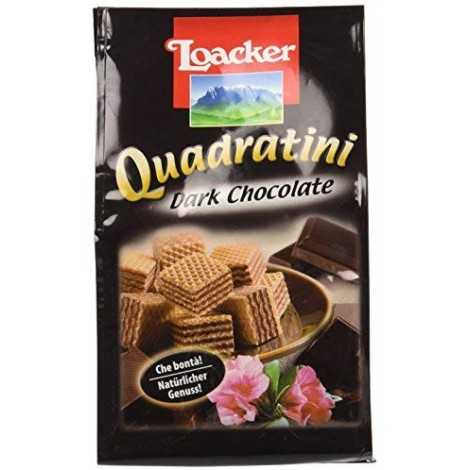 Loacker Wafer 125Gr Quadratini Dark Cioccolato