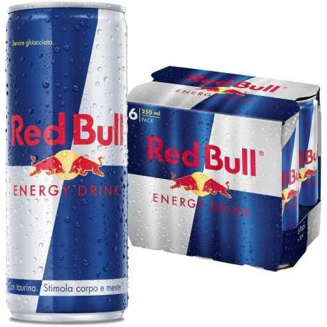 Red Bull energy drink, 6 lattine da 250 ml